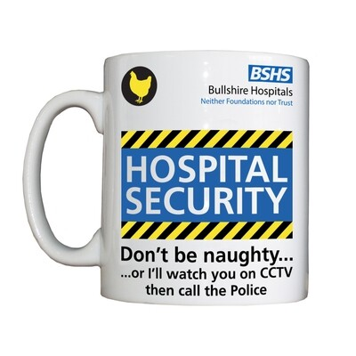 Personalised 'Hospital Security' Drinking Vessel
