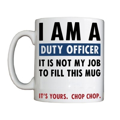 Personalised 'Duty Officer' Drinking Vessel