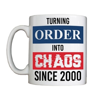 Personalised 'Order Into Chaos' Drinking Vessel
