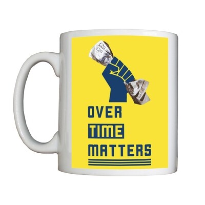 Personalised 'Overtime Matters' Drinking Vessel