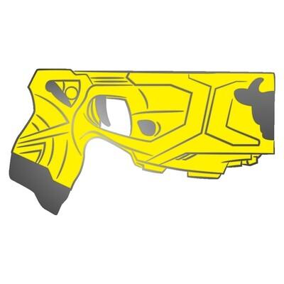 Yellow 'Bzzz X2' Pin Badge