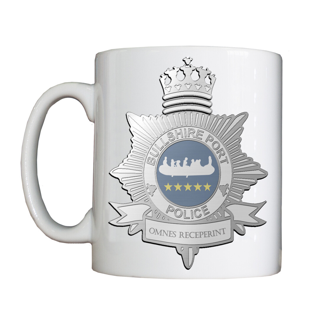 Personalised 'Bullshire Port Police' Drinking Vessel