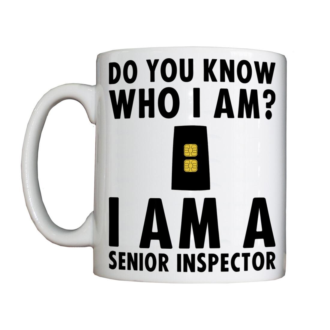 Personalised 'Senior Inspector' Drinking Vessel