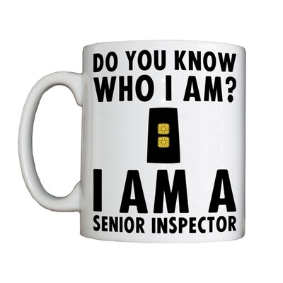 Personalised 'Senior Inspector' Drinking Vessel