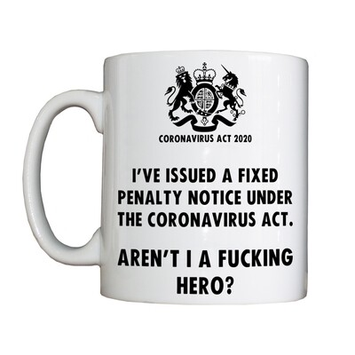 Fixed Penalty Notice Hero Drinking Vessel