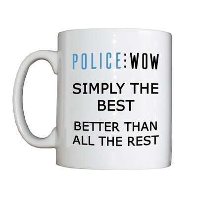 Personalised 'Police WOW' Drinking Vessel