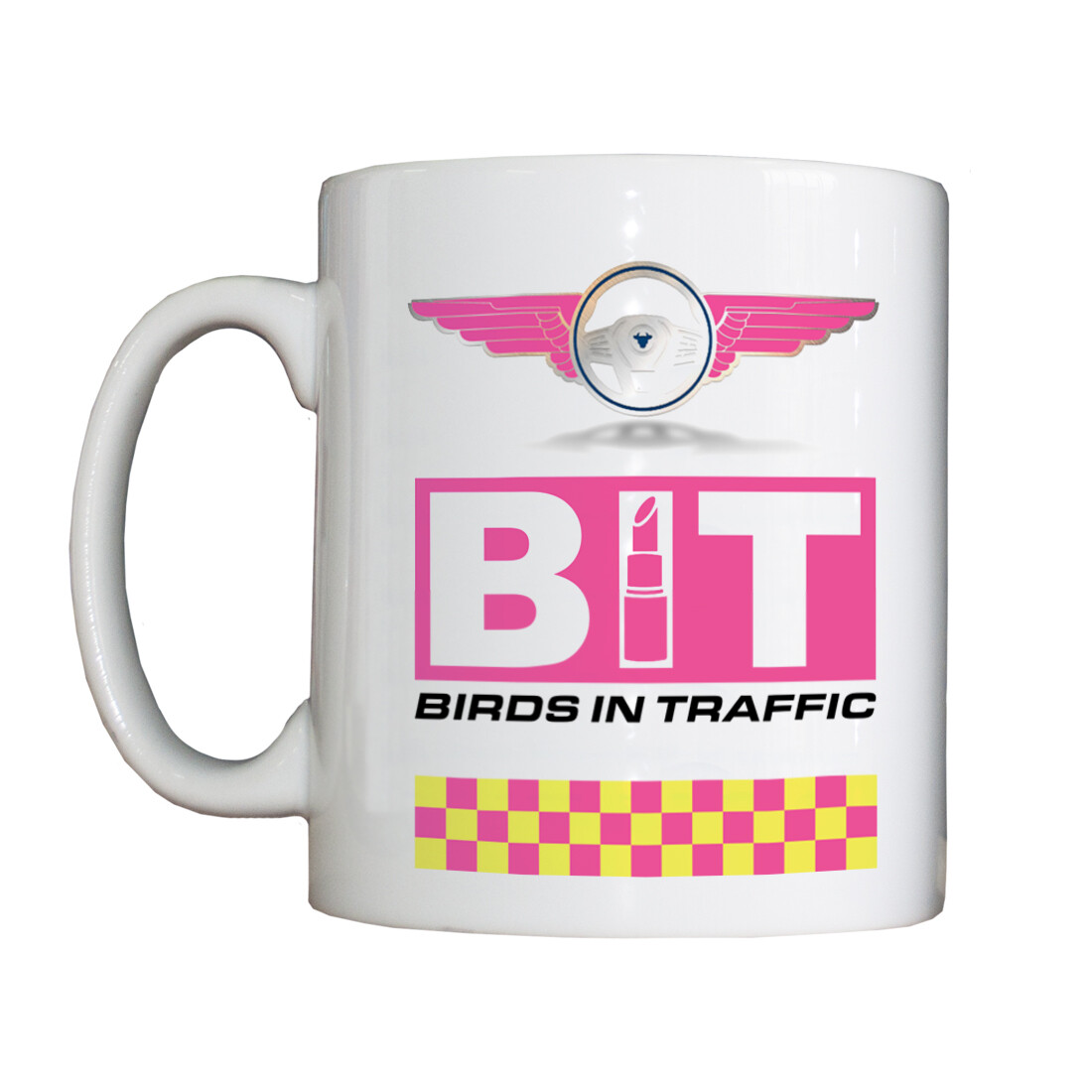 Personalised 'Birds in Traffic' Drinking Vessel