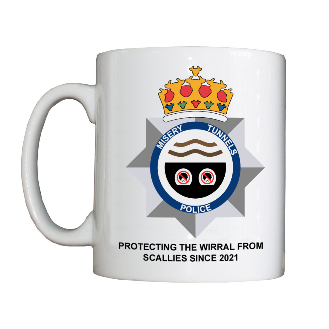 Personalised 'Misery Tunnels Police' Drinking Vessel
