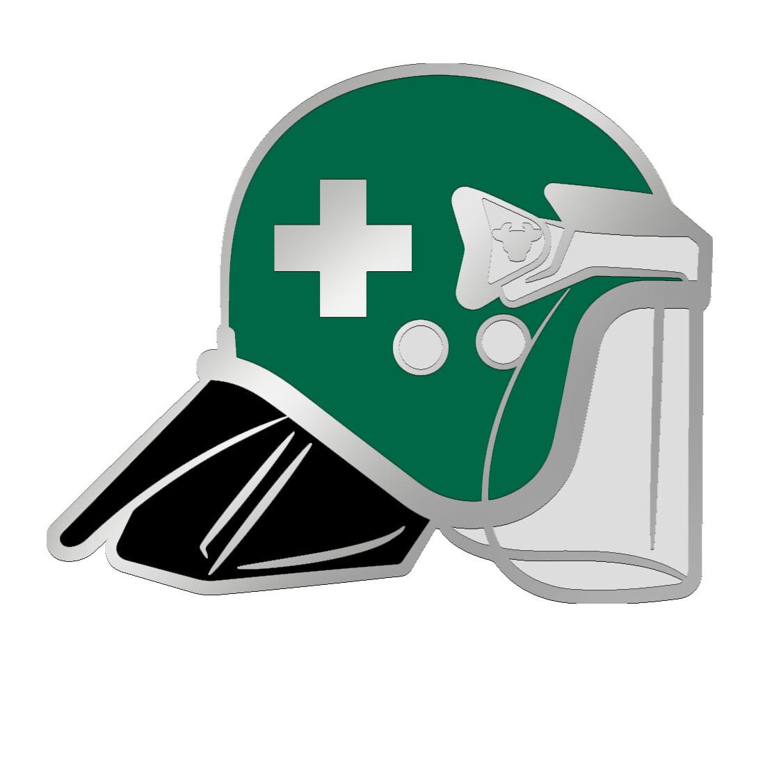 Medic BullHat Pin Badge