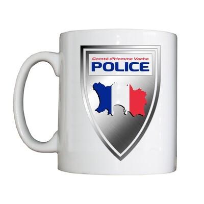 Navire à Boire Personnalisé de la Police Comté d'Homme Vache