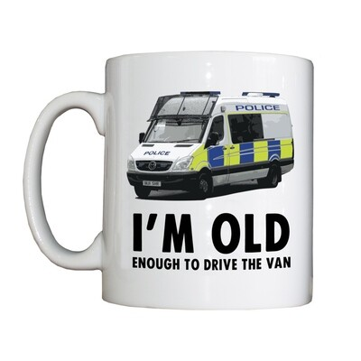 Personalised 'Old Enough to Drive the Van' Drinking Vessel