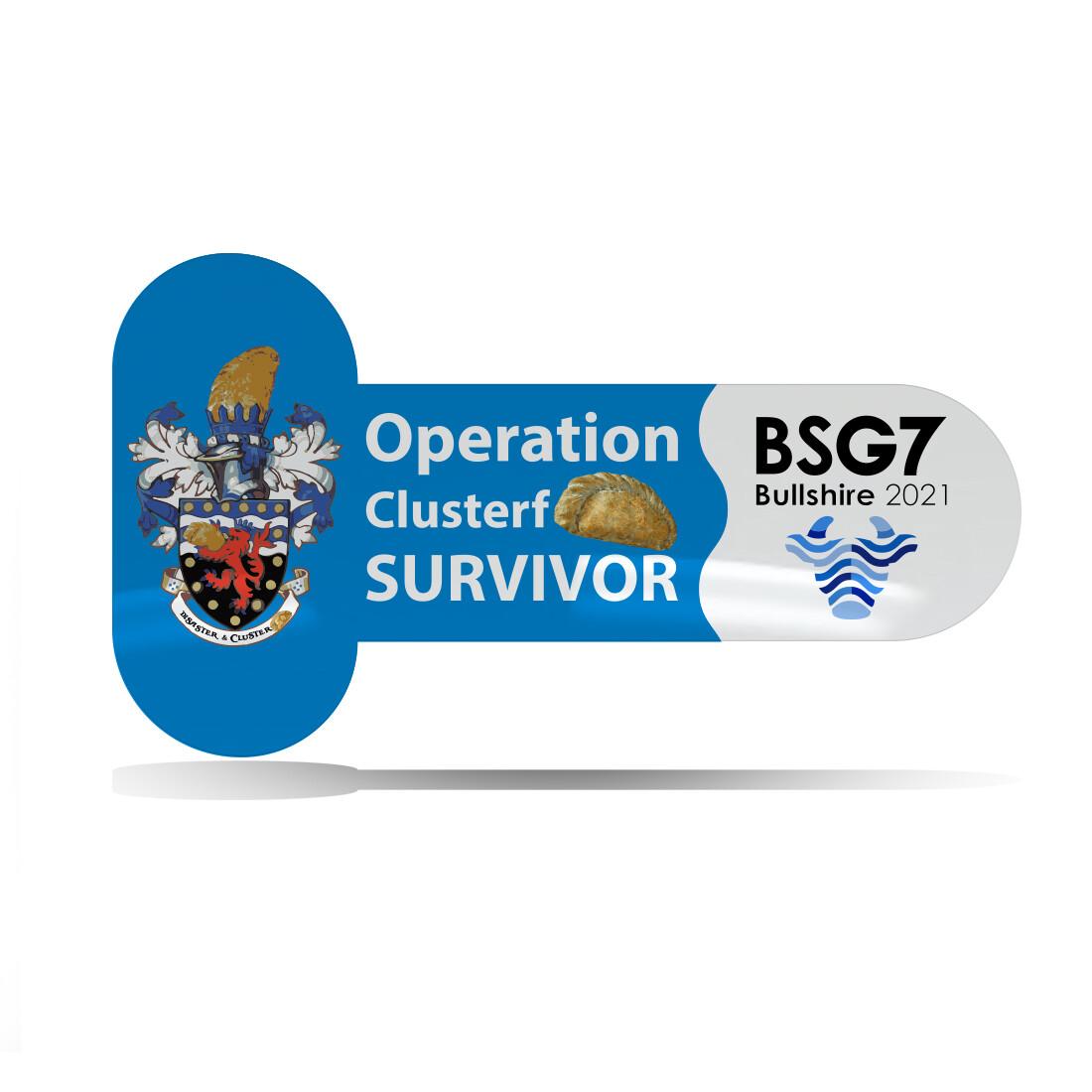 Operation Clusterfpasty Survivor Pin Badge