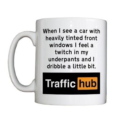 Personalised 'Tinted Windows TrafficHub' Drinking Vessel