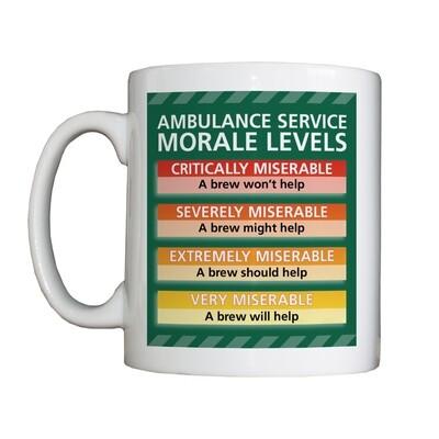 Personalised 'Ambulance Service Morale Levels' Drinking Vessel