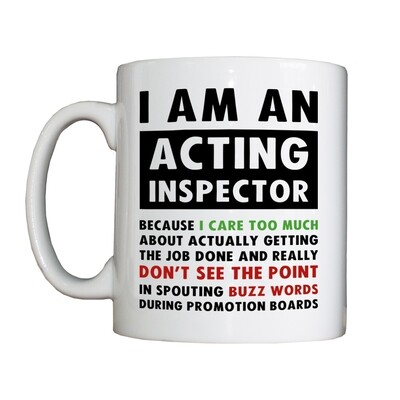 Personalised 'Positive Acting Inspector' Drinking Vessel