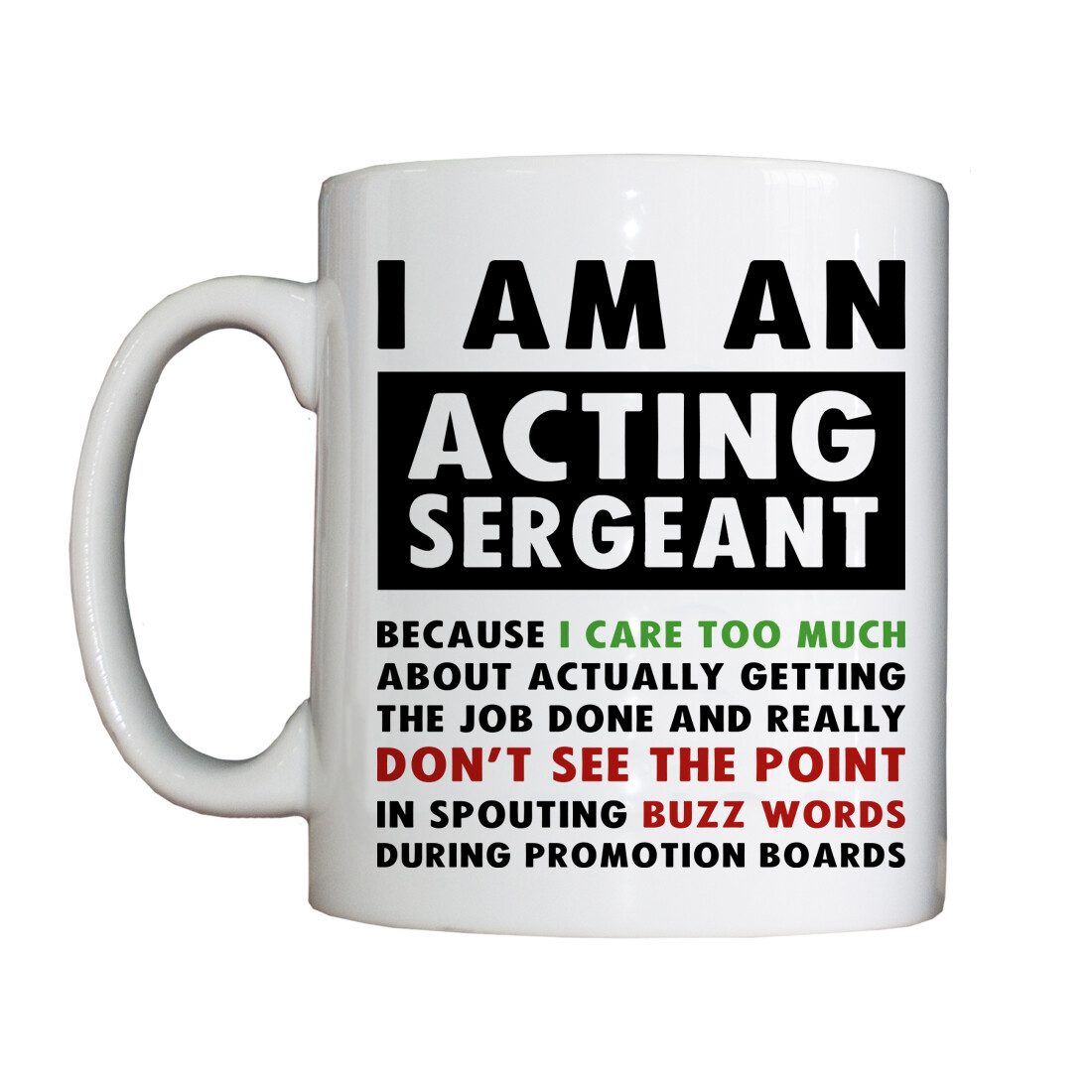 Personalised 'Positive Acting Sergeant' Drinking Vessel