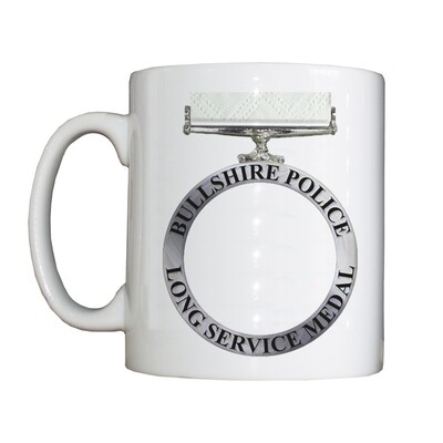 Personalised 'Long Service Medal' Drinking Vessel