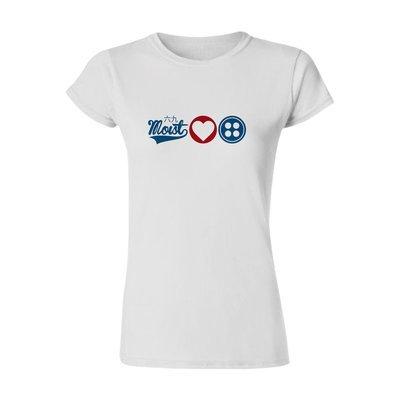 Female 'Love Button' T-Shirt