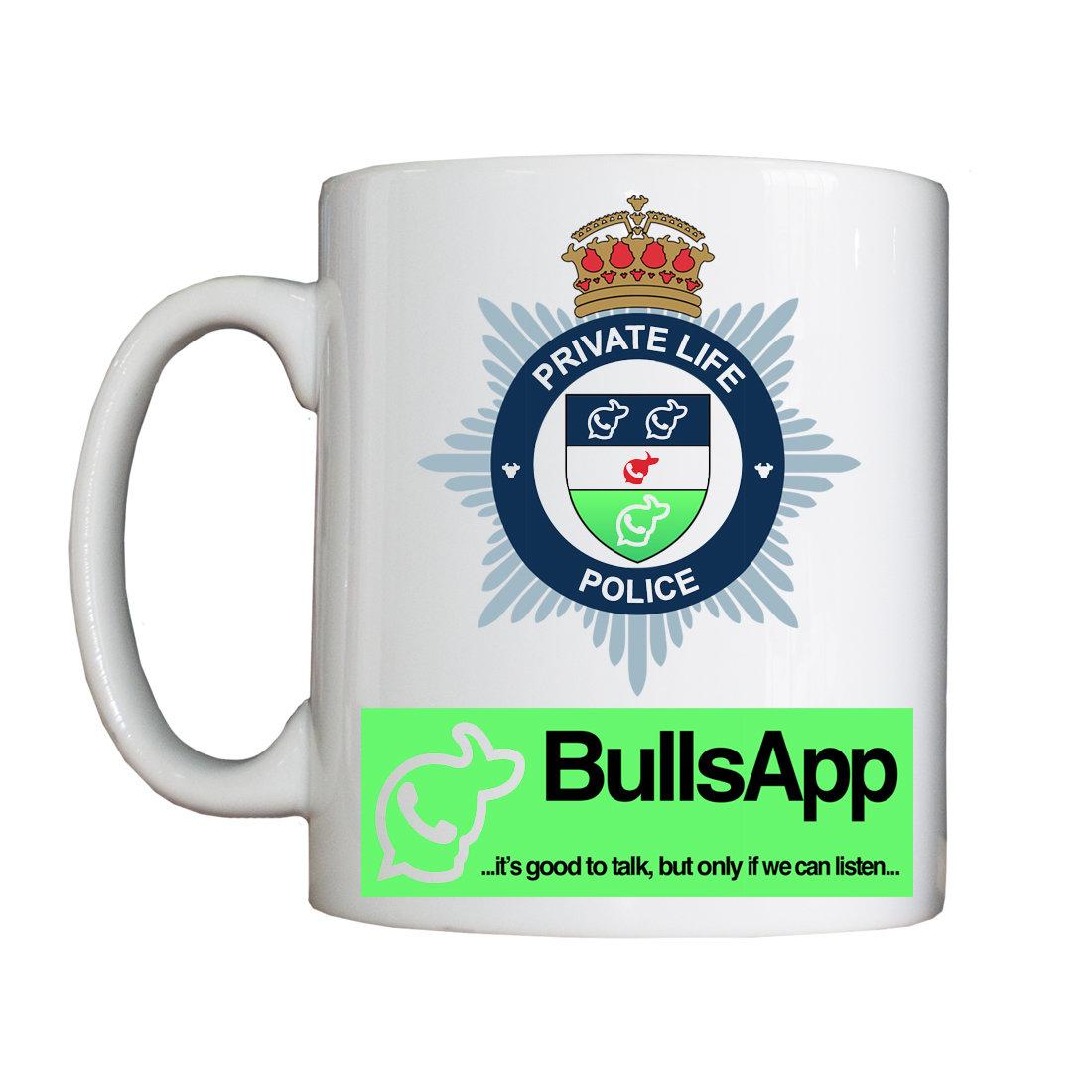Personalised 'Private Life Police' Mug