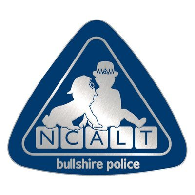 Silver Plated Bronze 'NCALT' Pin Badge