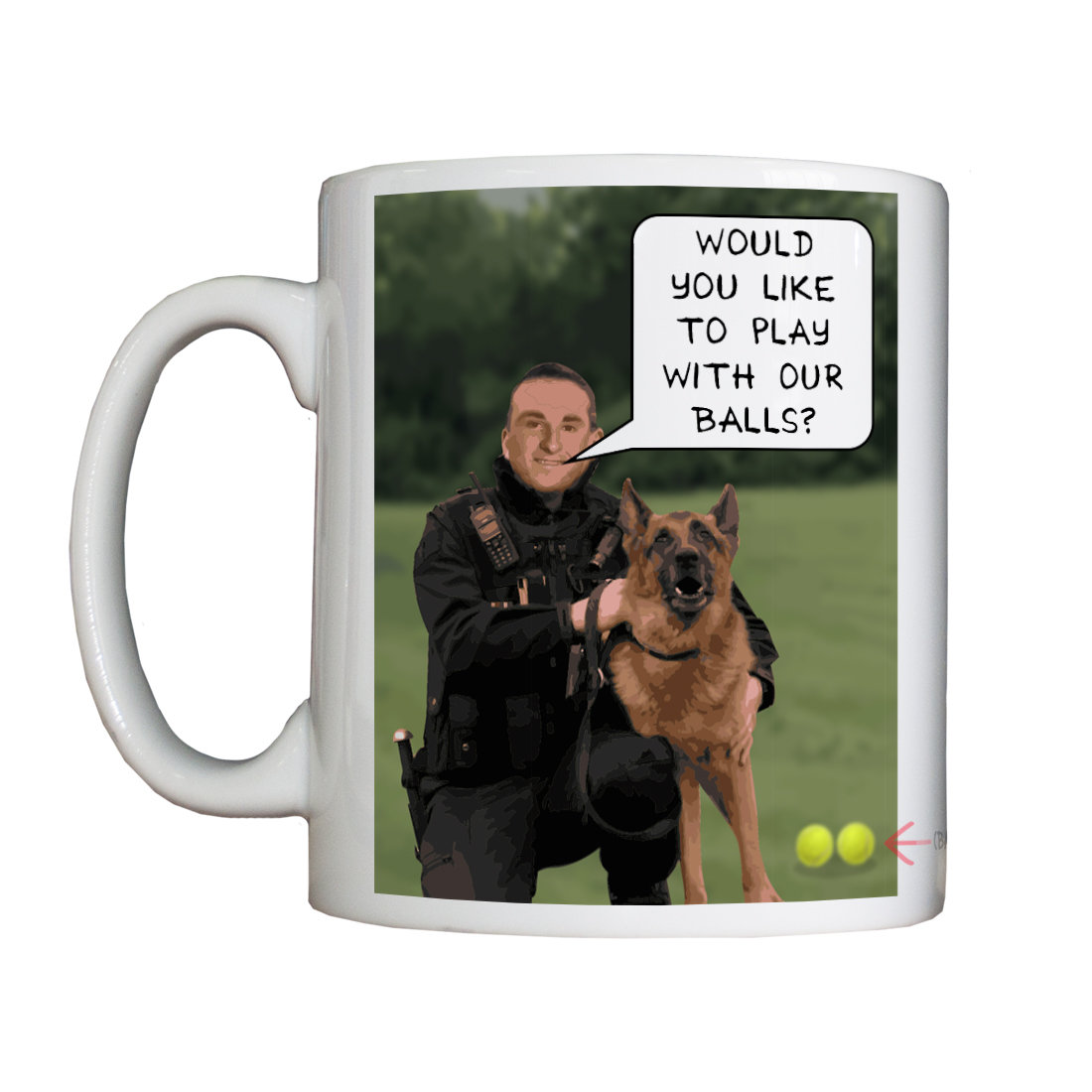 Personalised 'Dog Man' Drinking Vessel