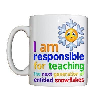 Personalised 'Snowflake Teacher' Drinking Vessel