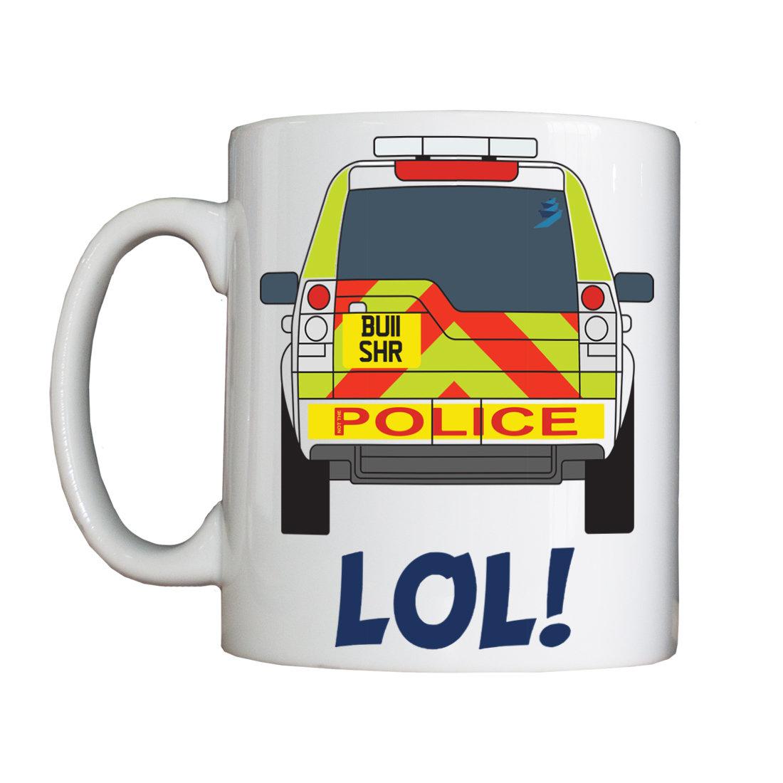 Personalised 'Not the Police (Highways Bullshire)' Mug