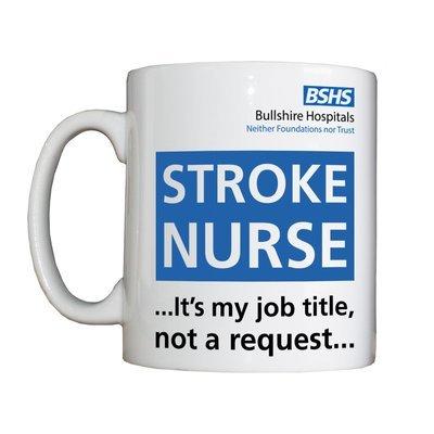 Personalised 'Stroke Nurse' Drinking Vessel