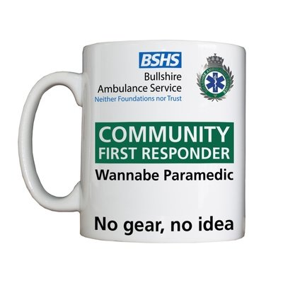 Personalised 'Community First Responder' Drinking Vessel