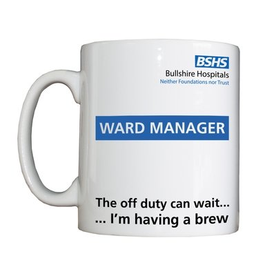 Personalised 'Ward Manager' Drinking Vessel