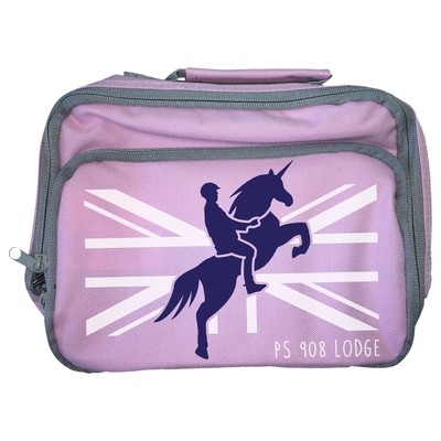 Personalised 'Mounted Unicorn Division' Lunch Bag