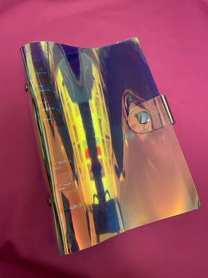 PIPPYPLANS | Laser Iridescent 6 Ring Planner cover | Personal