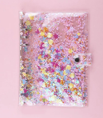 PIPPYPLANS | Shaker glitter 6 Ring Planner cover | PERSONAL A5