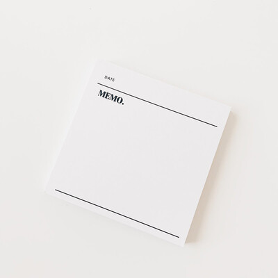 CLOTH & PAPER   STICKY NOTES   DATED MEMO