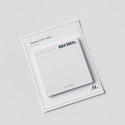 CLOTH & PAPER   STICKY NOTES   MEMO