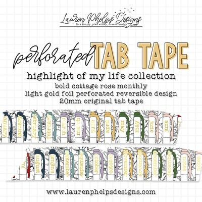 LAUREN PHELPS DESIGNS | BOLD COTTAGE ROSE | TAB TAPE