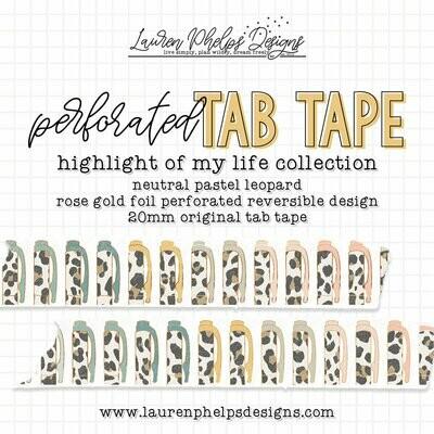 LAUREN PHELPS DESIGNS | HIGHLIGHT OF MY LIFE | LEOPARD TAB TAPE