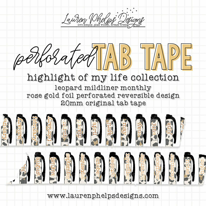 LAUREN PHELPS DESIGNS   HIGHLIGHT OF MY LIFE   LEOPARD TAB TAPE