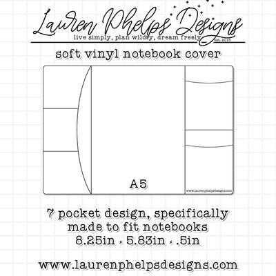 LAUREN PHELPS DESIGNS |  VINYL NOTEBOOK COVER | A5