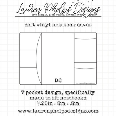LAUREN PHELPS DESIGNS | VINYL NOTEBOOK COVER | B6