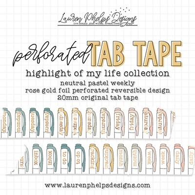 LAUREN PHELPS DESIGNS | HIGHLIGHT OF MY LIFE | NEUTRAL PASTEL TAB TAPE