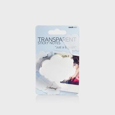SUCK UK   CLOUD SHAPE TRANSPARENT STICKY NOTE