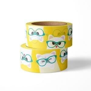 STUDIO INKTVIS | CAT IN GLASSES WASHI | 15mm