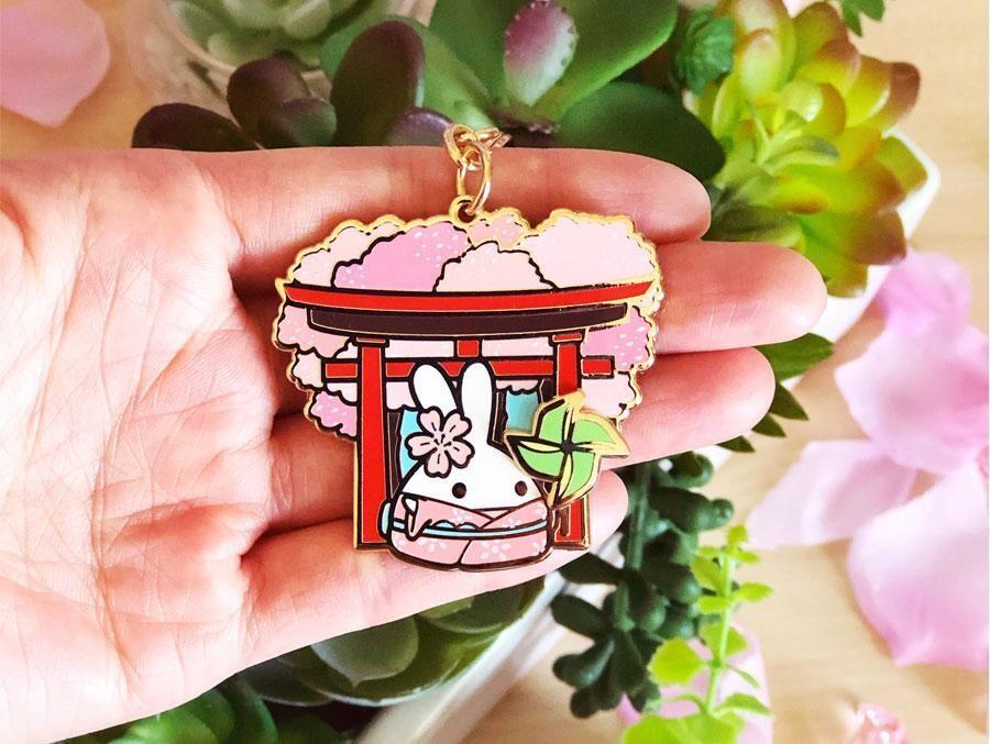 SumlilThings | Sakura Collection | Lil' Sakura Petals - Spinning Pinwheel Keychain