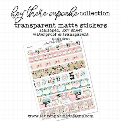 LAUREN PHELPS DESIGNS  | MATTE STICKERS  | HEY THERE CUPCAKE