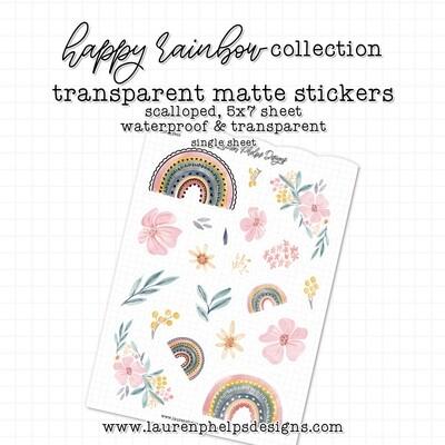 LAUREN PHELPS DESIGNS  | MATTE STICKERS | HAPPY RAINBOW