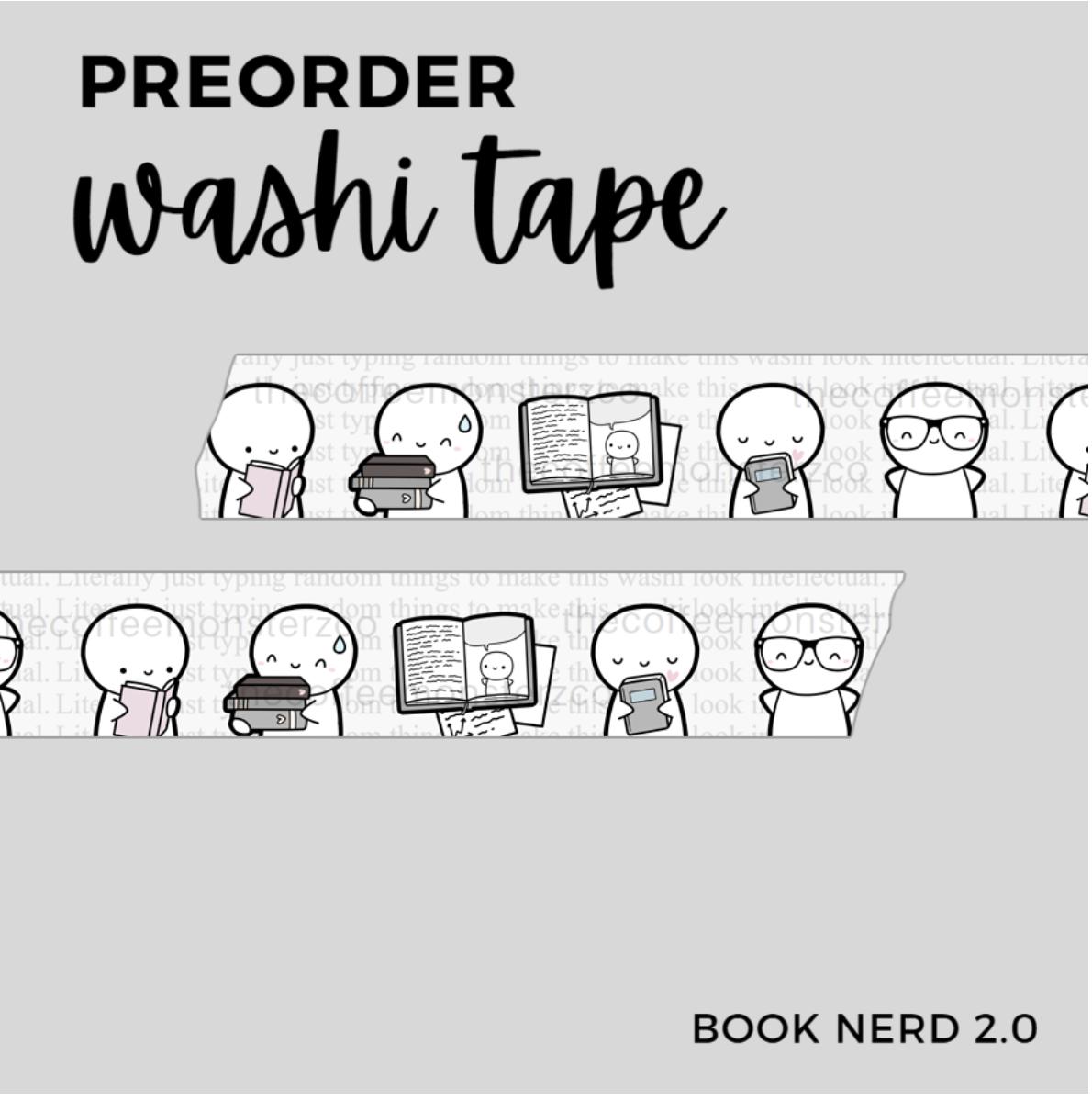 THECOFFEEMONSTERZCO | BOOK NERD 2.0 | WASHI  15MM