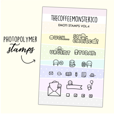 THECOFFEEMONSTERZCO | EMOTII STAMP SET | VOL. 4