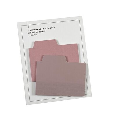CLOTH & PAPER.   BLANK TAB STICKY NOTE SET   MULTIPLE