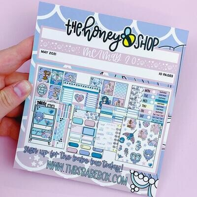 THE HONEY B SHOP | Mer-May 2.0 Sticker Book | 10 Pages | Holo Foiled
